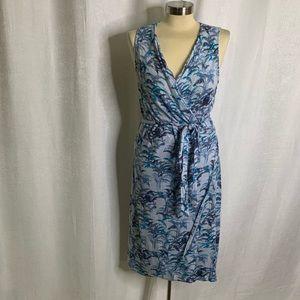 Tommy Bahama wrap palm tree print dress